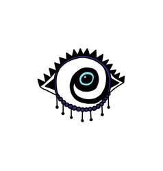 Protective amulet image in shape eye cartoon vector