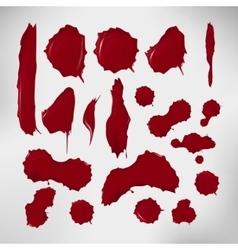 Realistic blood drops set of vector