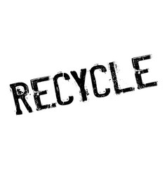 recycle rubber stamp vector image