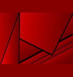 red background abstract square overlap concept vector image