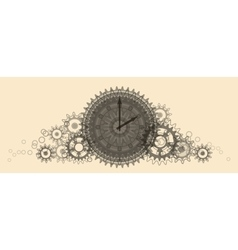 Retro Clock Pale beige vector image