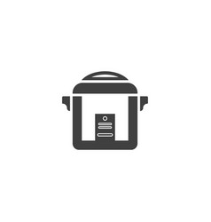 rice cooker icon template vector image