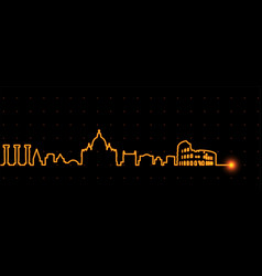 Rome light streak skyline vector