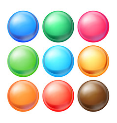 Round spheres set set opaque multicolored vector