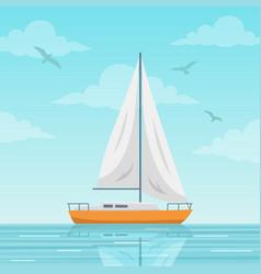 sailboat on sea vector image