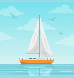 Sailboat on the sea vector