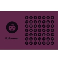 Set of Halloween simple icons vector image