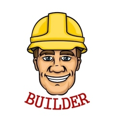Smiling builder man in hard hat vector
