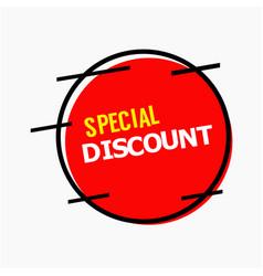 Special discount template design vector