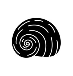 Spiral shell black glyph icon vector