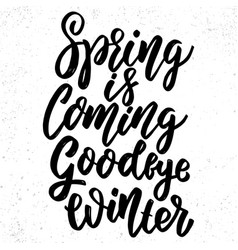 spring is coming goodbye winter hand drawn vector image