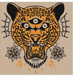 Tiger head ceetah head logo vector