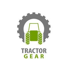 tractor gear logo concept design symbol graphic vector image