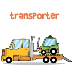 Transporter car of art vector