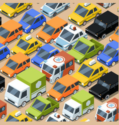 urban traffic pattern jammed city transport cars vector image
