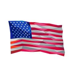 USA Flag Stars and Stripes Low Polygon vector