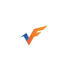 v f letter logo business template vector image
