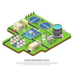 Water treatment plants vector