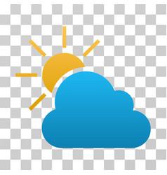 Weather gradient icon vector