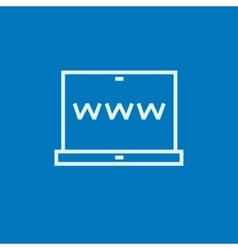 Website on laptop screen line icon vector image