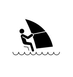Windsurfing black concept icon windsurfing vector