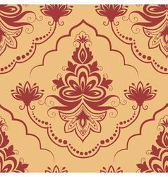 damask floral pattern element vector image vector image