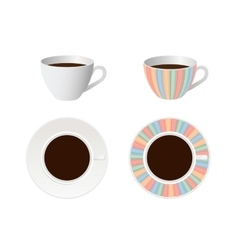 design for cup vector image