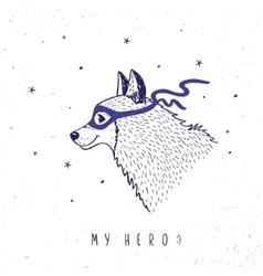 Husky my hero vector image