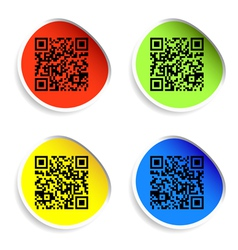 modern bar codes set of labels with qr codes vector image