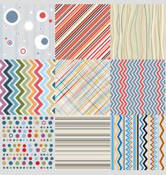 textile or paper retro background set vector image