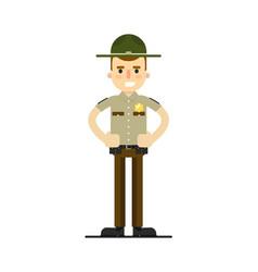 american sheriff in uniform vector image