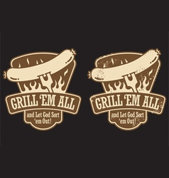 Barbecue Emblem vector image vector image