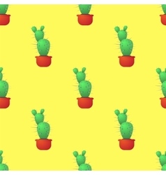 Green Cactus Seamless Pattern vector image vector image