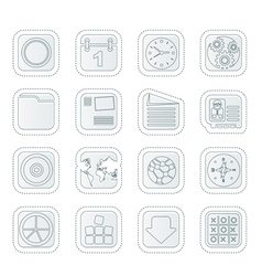 Mobile Phone Computer and Internet Icons vector image vector image