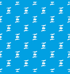 piggy bank and hands pattern seamless blue vector image vector image
