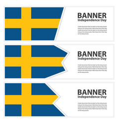 sweden flag banners collection independence day vector image