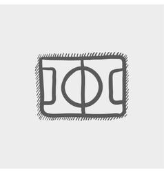 Basketball court sketch icon vector image