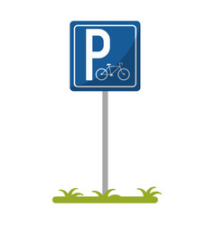 bycicle road sign parking vector image