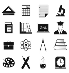 Education simple icons vector image vector image