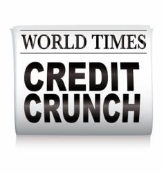 newspaper credit crunch vector image