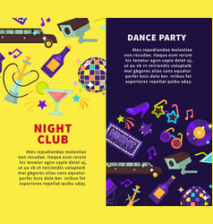 night club party and dance party posters vector image