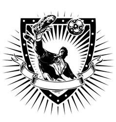 Soccer shield vector