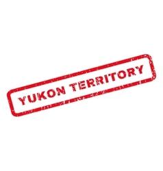 Yukon territory rubber stamp vector