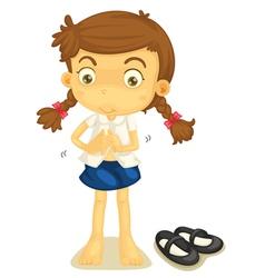 a girl in school uniform vector image