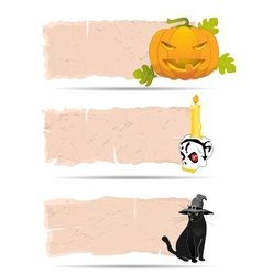 Halloween sticker vector image vector image