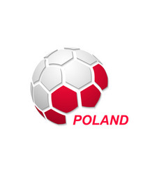 abstract soccer ball with national flag colors vector image