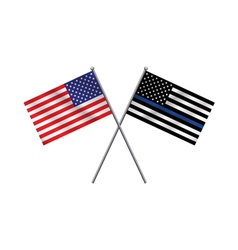 American Police Flag vector image