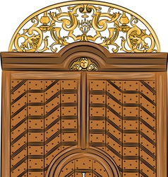 Antique doors a vector