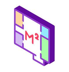 Apartment planning isometric icon vector