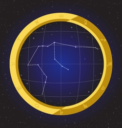 Aquarius star horoscope zodiac in fish eye vector
